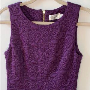 Eliza J Purple Rose Print Dress